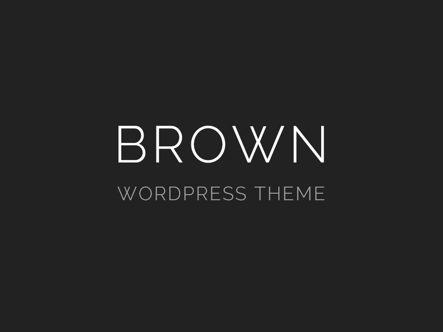 brown theme